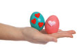 Hand and Colorful easter egg Stock Photography