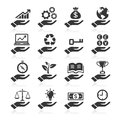 Hand concept icons for business set Stock Images