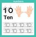 Hand count.finger and number,Number exercise Royalty Free Stock Photo