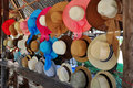 Hand craft hat shop Royalty Free Stock Photo
