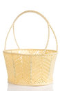 Hand craft plastic basket with shadow Royalty Free Stock Photo