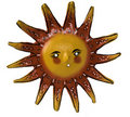 Hand crafted Sun art symbol Stock Photography