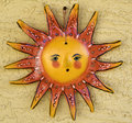 Hand crafted Sun art symbol Stock Image
