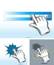 Hand cursor Stock Photos