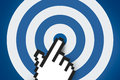 Hand Cursor on Target Royalty Free Stock Photo