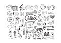 Hand doodle business doodles an images of Royalty Free Stock Image