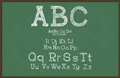 Hand draw alphabet blackboard chalkboard drawing vector eps illustration Stock Photography