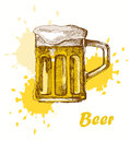 Hand draw beer Royalty Free Stock Images