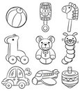 Hand draw cartoon baby toy icon Royalty Free Stock Photo