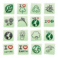 Hand draw cartoon on paper note stickers. Royalty Free Stock Photography
