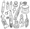 Hand draw cartoon stationery icon Royalty Free Stock Photo