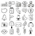 Hand draw cartoon web icon Stock Photo