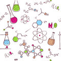 Hand draw chemistry pattern vector illustration of Royalty Free Stock Photography