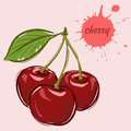 Hand draw of cherry