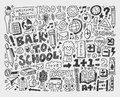 Hand draw doodle school element cartoon illustration Royalty Free Stock Photography