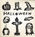 Hand draw halloween Royalty Free Stock Photo