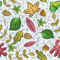 Hand draw  leafs suitable wrapping paper Stock Photo