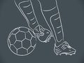 Hand draw soccer player Royalty Free Stock Photography