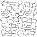 Hand draw speech bubbles Royalty Free Stock Image