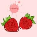 Hand draw of strawberry