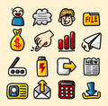 Hand draw web icons collection Royalty Free Stock Photo