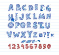 Hand drawing alphabet Royalty Free Stock Photo