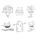 Hand drawing cartoon halloween happy Royalty Free Stock Photos