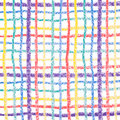 Hand drawing colorful crayon lines Royalty Free Stock Image