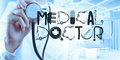 Hand drawing design word MEDICAL DOCTOR as concept Royalty Free Stock Photo