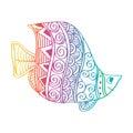 Hand drawing fish.
