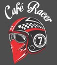 stock image of  Hand drawing of helmet a classic cafe racer motorcycle.r Illustration, EPS  manual artrwork hand draw