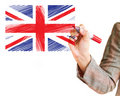 Hand drawing United kingdom flag Royalty Free Stock Image