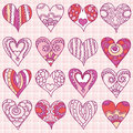 Hand drawing valentines heart, vector Stock Image