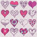 Hand drawing valentines heart, vector Royalty Free Stock Image