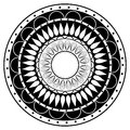 Hand drawing zentangle mandala element in black and white spectrum Stock Photos