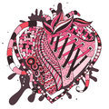 Hand drawn abstract heart this is file of eps format Stock Photo