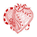 Hand drawn abstract heart this is file of eps format Royalty Free Stock Photography