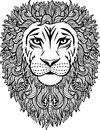 Hand drawn abstract lion illustration Royalty Free Stock Photo