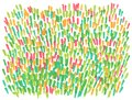 Hand drawn abstract marker spring lawn background
