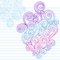 Hand-Drawn Abstract Sketchy Swirl Doodles Royalty Free Stock Photography
