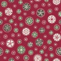Hand drawn abstract white Christmas snowflakes vector seamless pattern background. Winter Holiday Nordic. Yuletide.Hygge