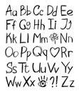 Hand drawn alphabet Stock Image