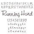 Hand drawn alphabet design element Stock Image