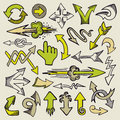 Hand drawn arrows Royalty Free Stock Images