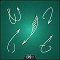 Hand Drawn Arrows Design. Vect...