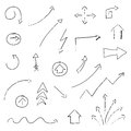 Hand drawn arrows illustration of Royalty Free Stock Photos