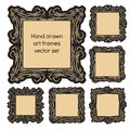Hand drawn art frames Royalty Free Stock Photo