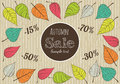 Hand-drawn Autumn Sale Background. Royalty Free Stock Photo