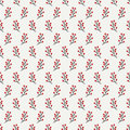 Hand drawn autumn seamless pattern made of berries. Wrapping paper. Abstract vector background. Floral illustration