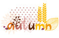Hand drawn autumn text Stock Images
